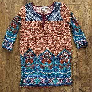 Flying Tomato Long Shirt Tunic Boho Hippie Small S